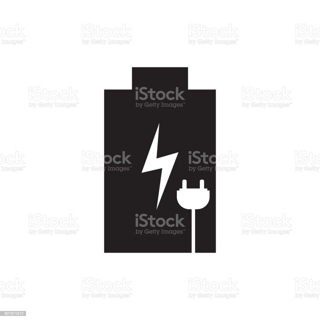 Rechargeable battery icon vector illustration. Free royalty images. - Royalty-free Alkaline stock vector