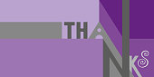 Rechteckige Danke-Karte (Text in enschlisch)