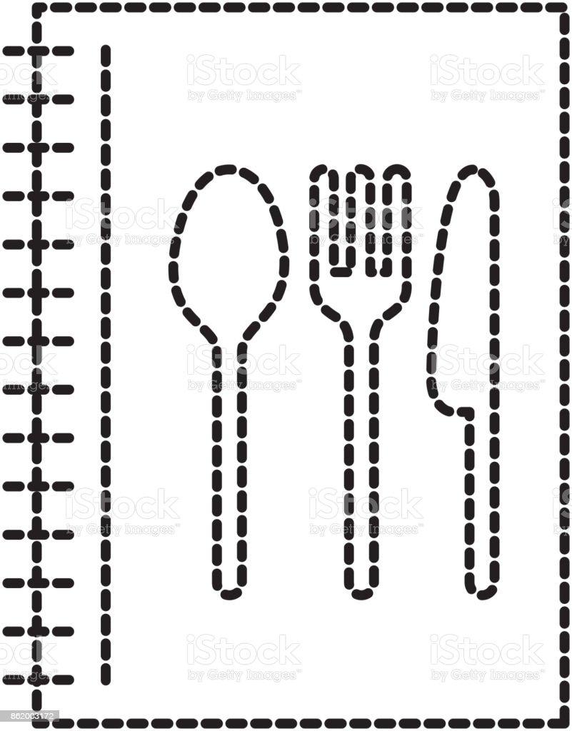 Recetario De Cocina.Ilustración De Recetario Cocina Elemento De Menú Restaurante Y Más