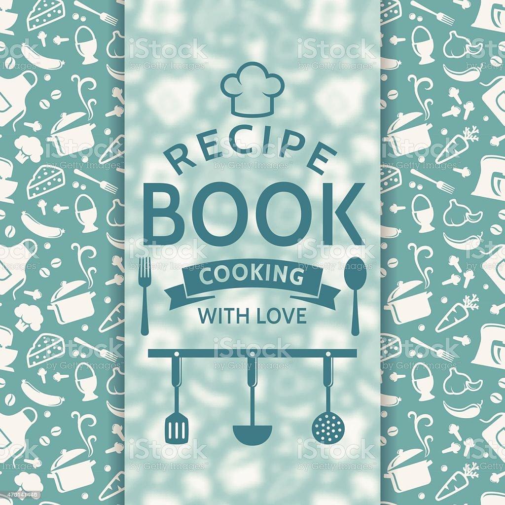 Recipe book. Vector card. vector art illustration