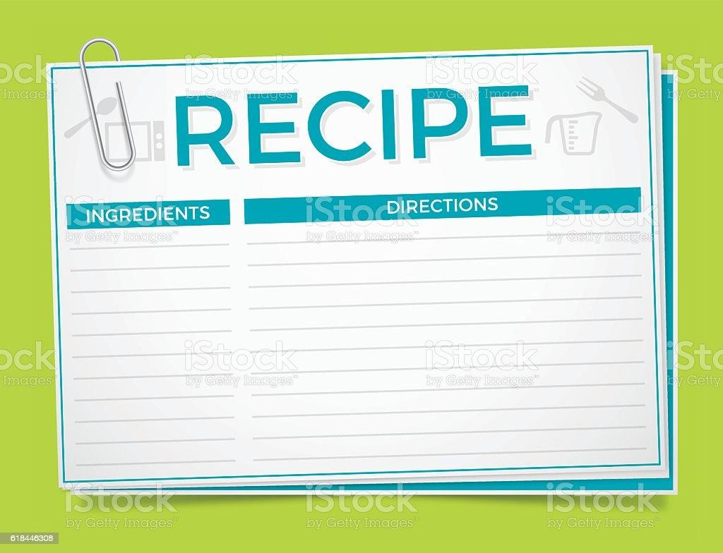 Recipe Card vector art illustration