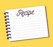 istock Recipe Note Pad 1271354549