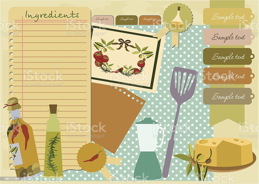 Recipes royalty-free stock vector art