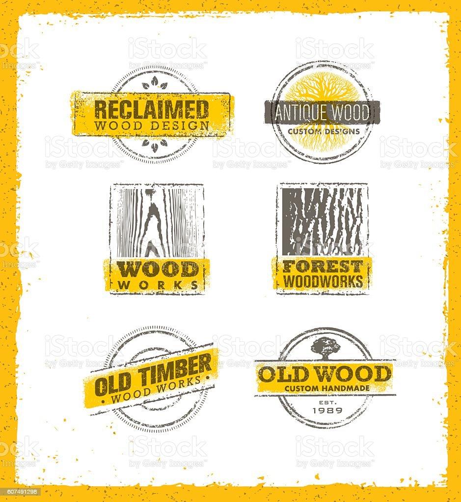 Reclaimed Wood Design - ilustración de arte vectorial