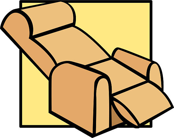 Recliner Chair Vector Art Illustration