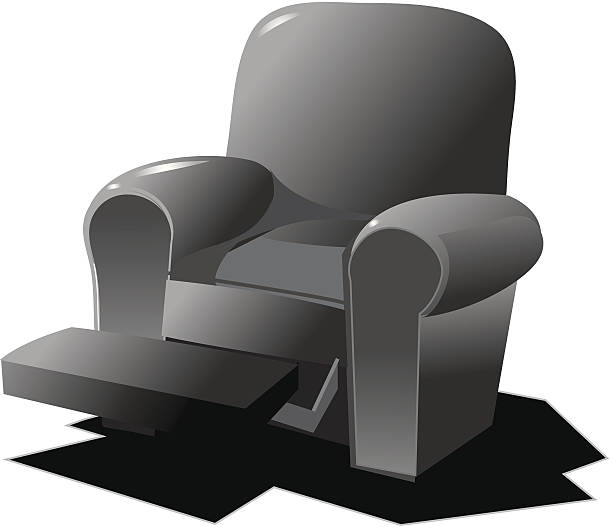 Recliner Vector Art Illustration