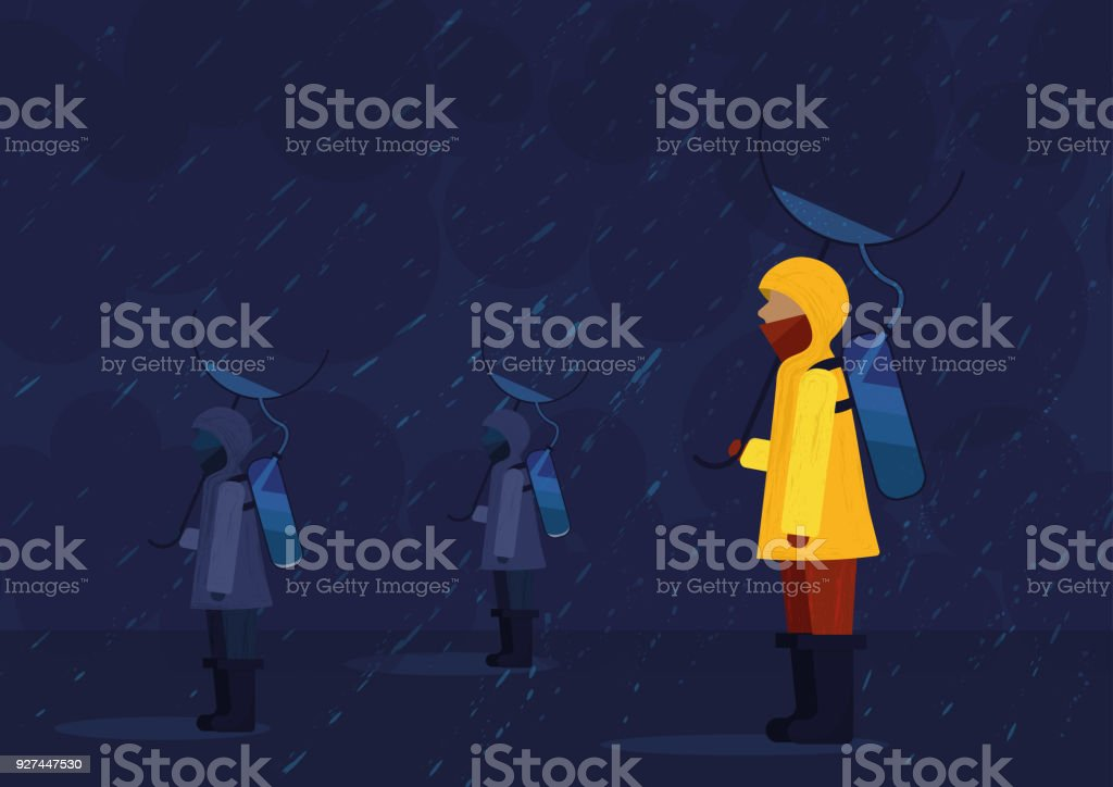 Recollecting water vector art illustration