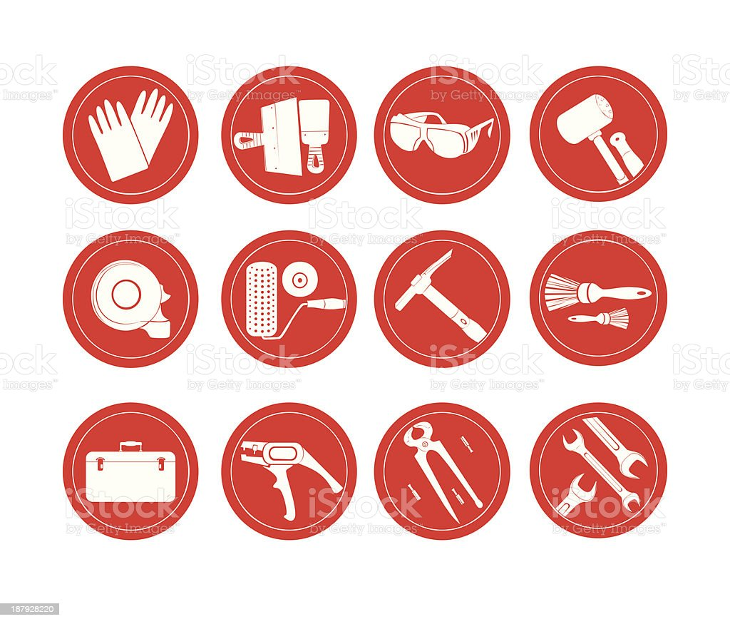 reconstruction icons royalty-free stock vector art