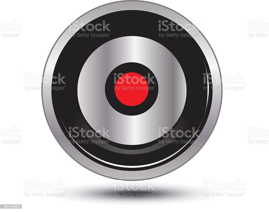 record button icon vector art illustration