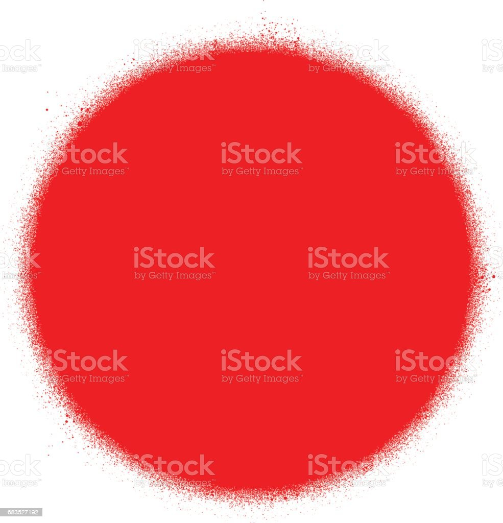 record media graffiti spray icon in red over white
