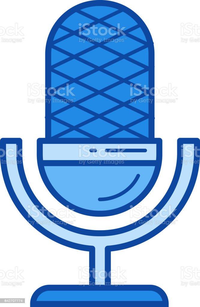 Rekordlinie Mikrofonsymbol Stock Vektor Art und mehr Bilder von ...