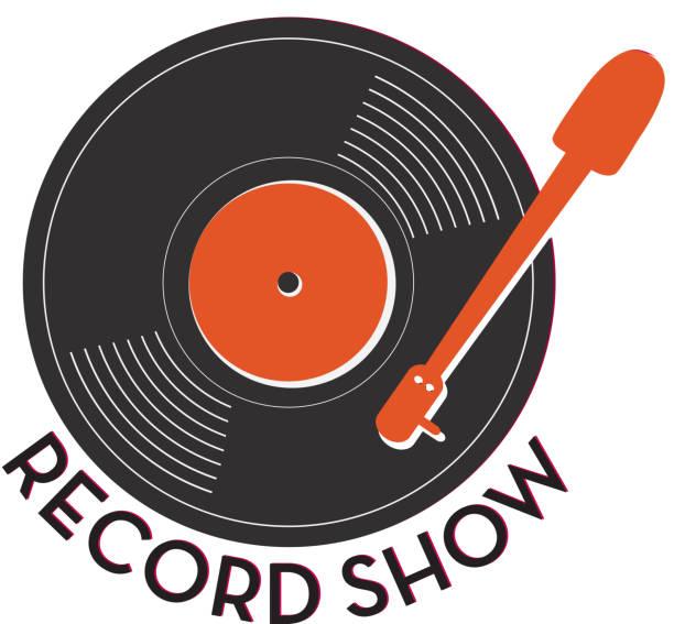 ilustrações, clipart, desenhos animados e ícones de registro mostrar ícone do design com texto - toca discos