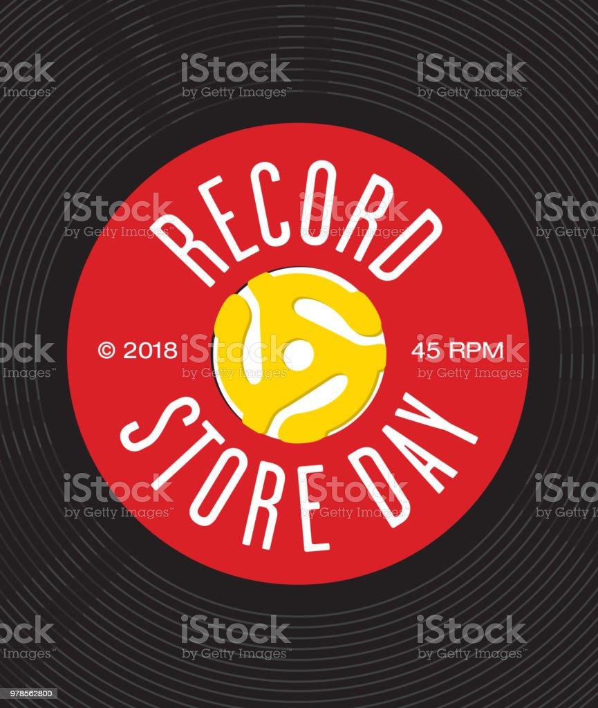 Record Store Day Badge or Emblem Vector Design. vector art illustration