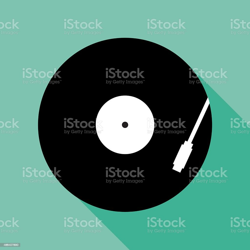 RecordPlayerIcon vector art illustration