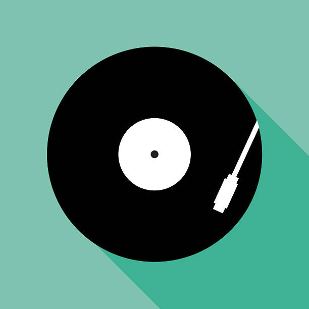 ilustrações, clipart, desenhos animados e ícones de recordplayericon - toca discos
