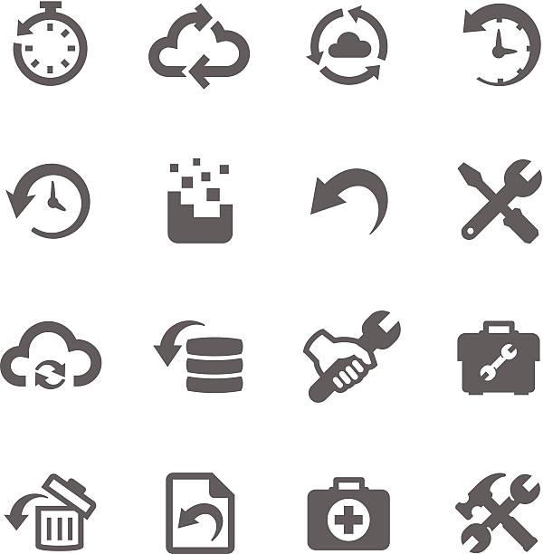 stockillustraties, clipart, cartoons en iconen met recovery and repair icons - herstel