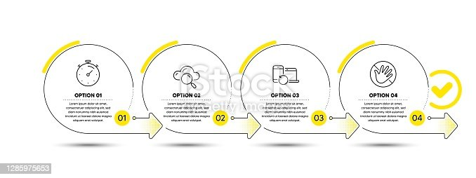 istock Recovery devices, Timer and Cloud computing icons set. Do not touch sign. Vector 1285975653