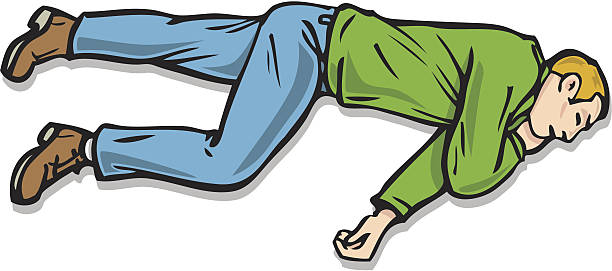 stockillustraties, clipart, cartoons en iconen met recovery position - knock out