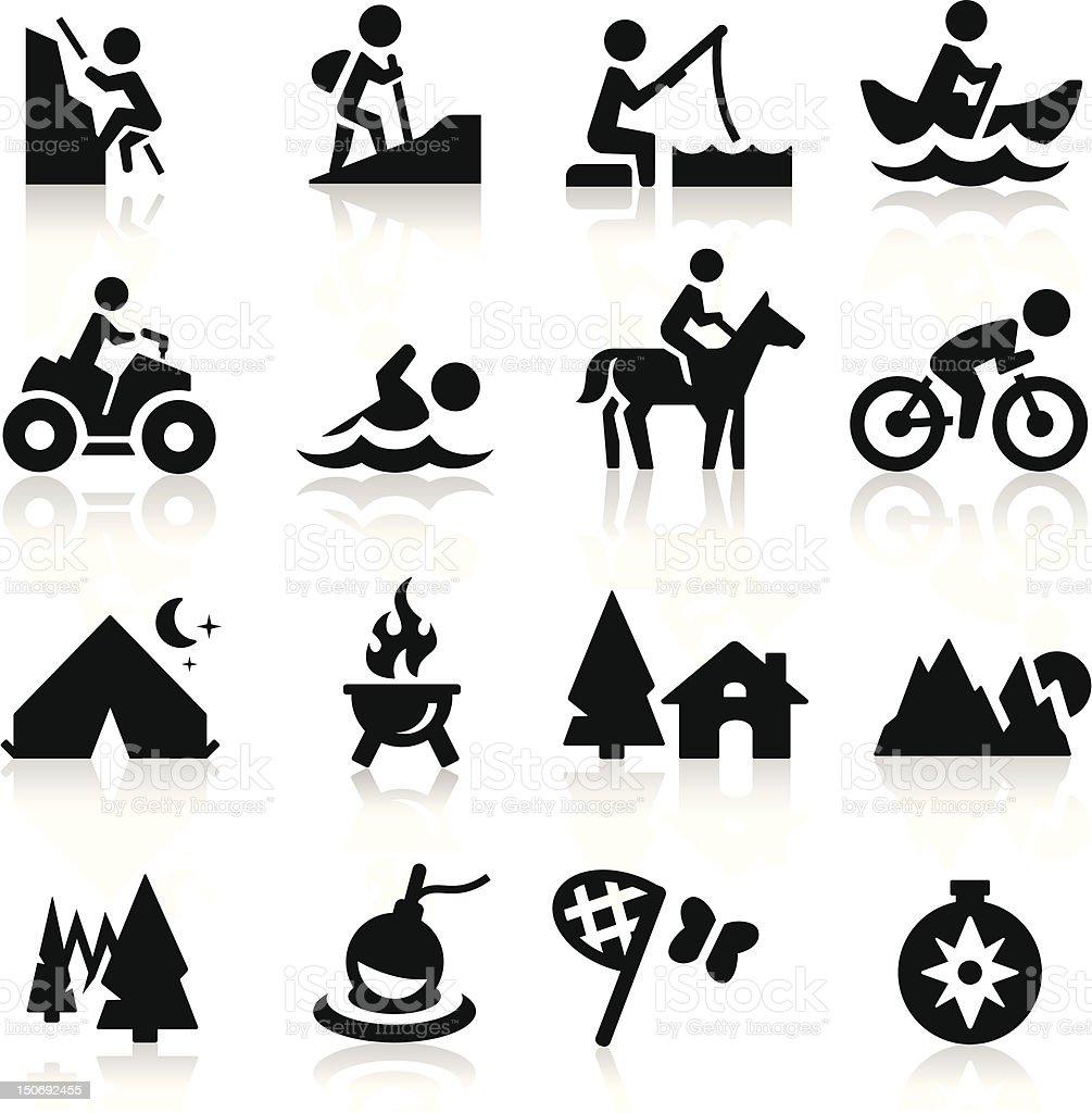 Icone di ricreazione - illustrazione arte vettoriale