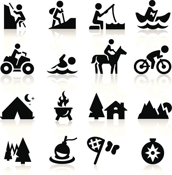 recreation symbole - reiter stock-grafiken, -clipart, -cartoons und -symbole