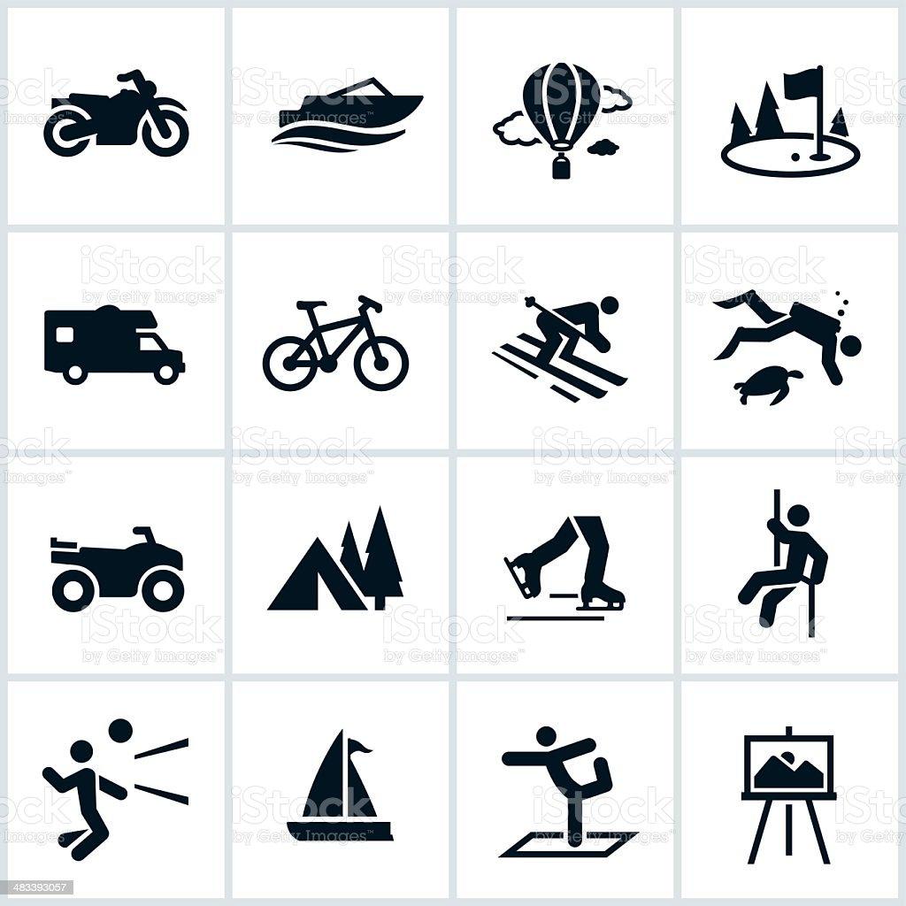 Recreation Icons vector art illustration