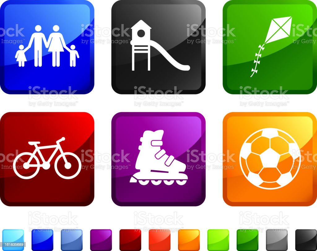 Recreational Activity royalty free vector icon set royalty-free recreational activity royalty free vector icon set stock vector art & more images of bicycle