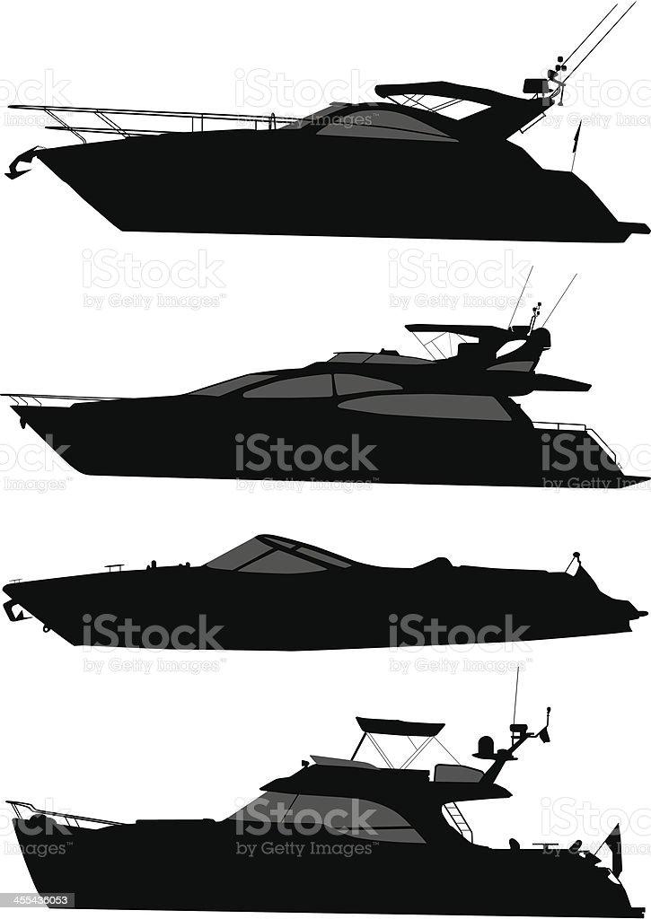 Recreational Boat royalty-free stock vector art
