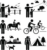 Recreational Outdoor Leisure Activities Clipart