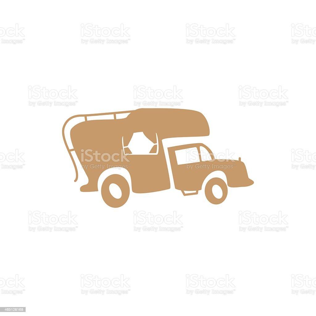 recreational vehicle vector art illustration
