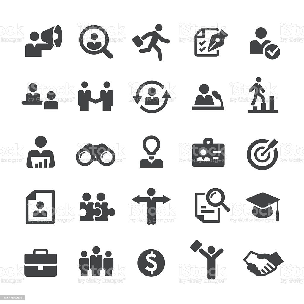 Recruiting and Hiring Icons - Smart Series vector art illustration
