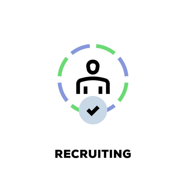 Recruiting Line Icon Recruiting Line Icon military recruit stock illustrations