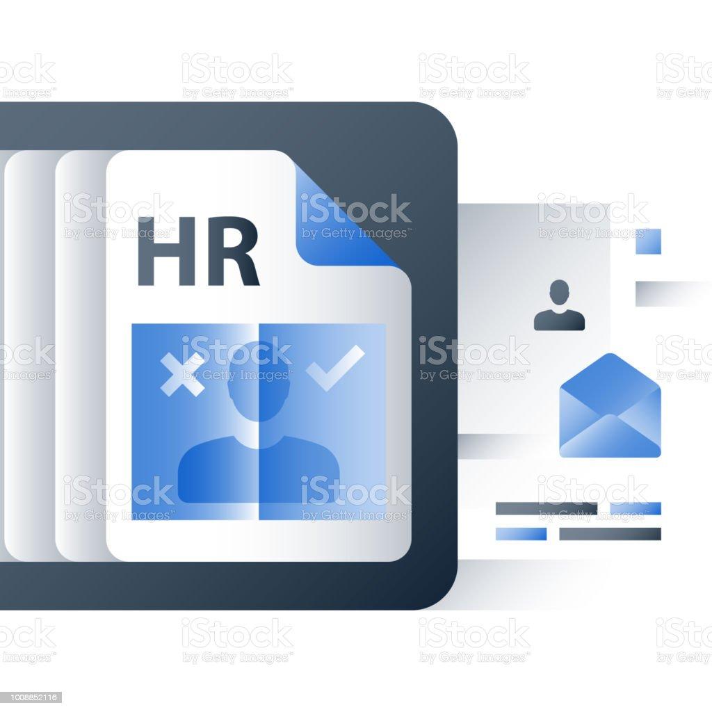 Ilustración de Agencia De Contratación Recursos Humanos Considerar ...