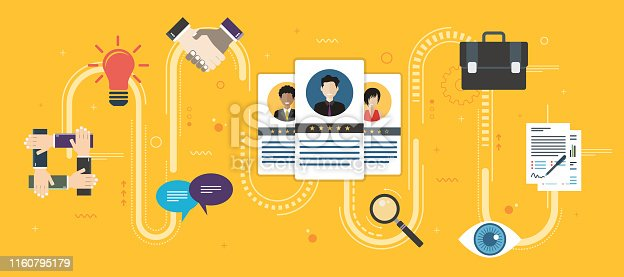 641422198istockphoto Recruitment and selection of people qualified for employment. 1160795179