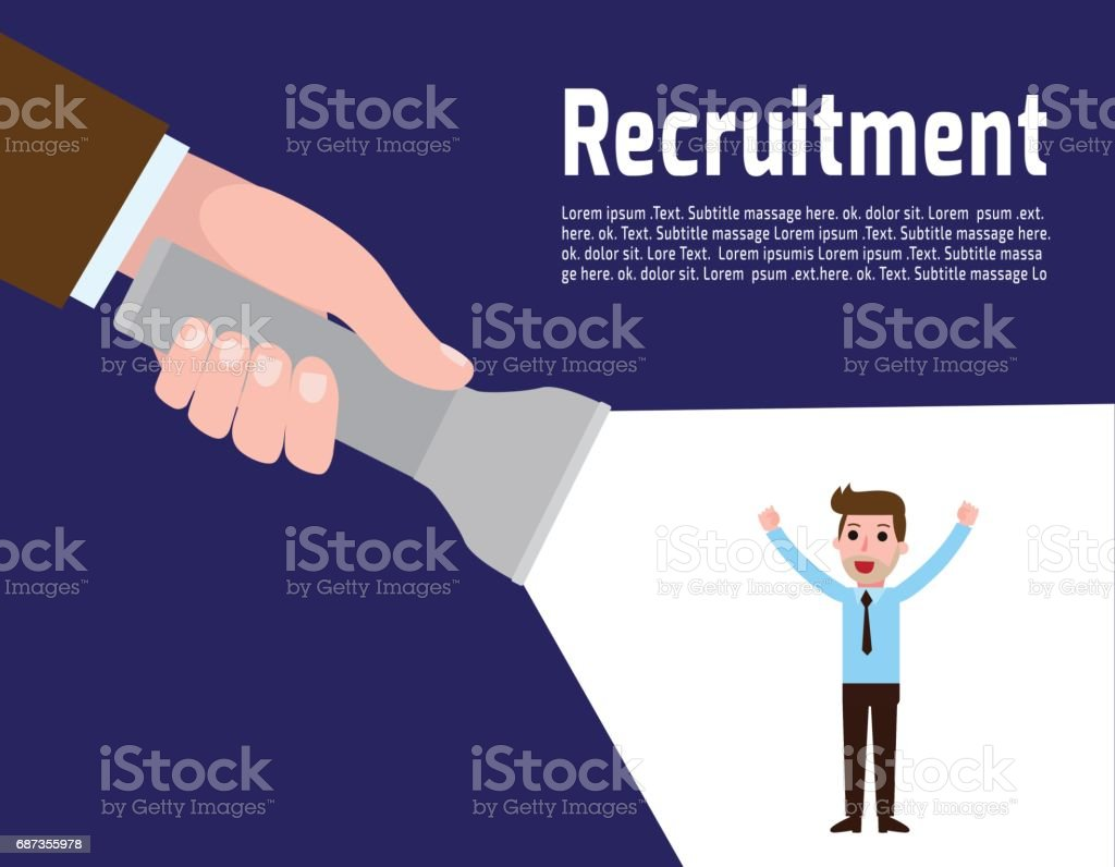Recruitment Concept Human Resources Businessman Employer Search