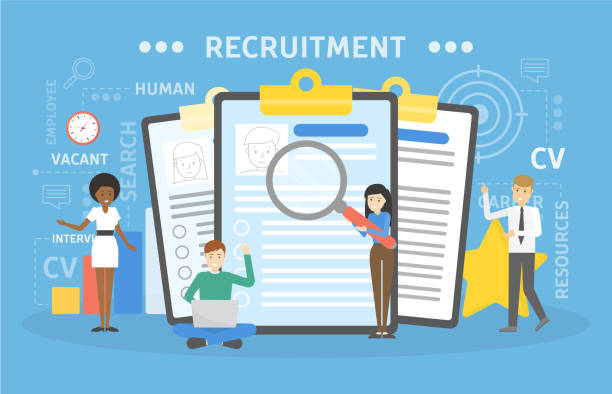 Recruitment concept illustration Recruitment concept illustration. Idea of new staff. recruiter stock illustrations