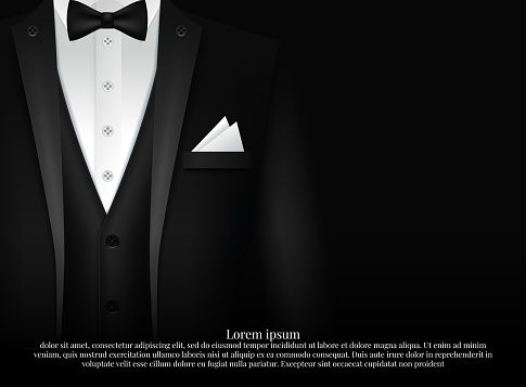 Recruitment design poster. We are hiring invitation with collar and tie on abstract background