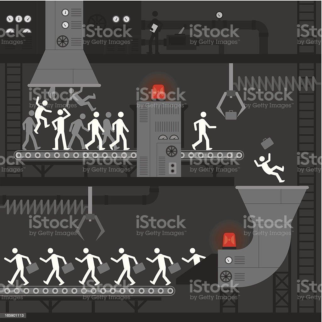 Recruitment Factoryvectorkunst illustratie