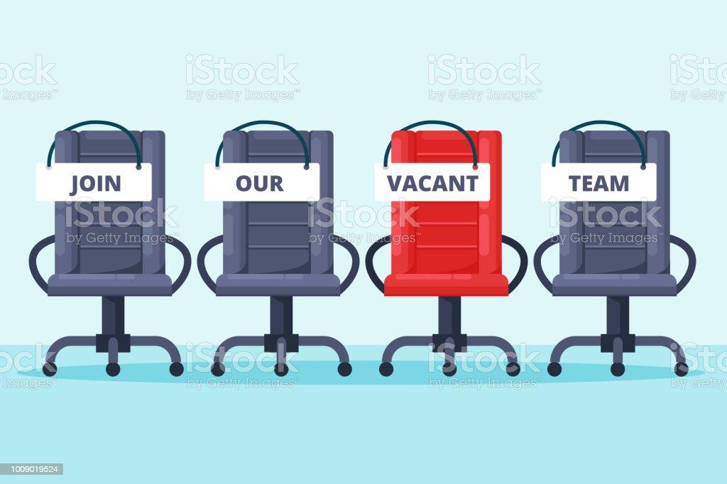 Recrutement embauche de concept bureau gris et rouge préside avec