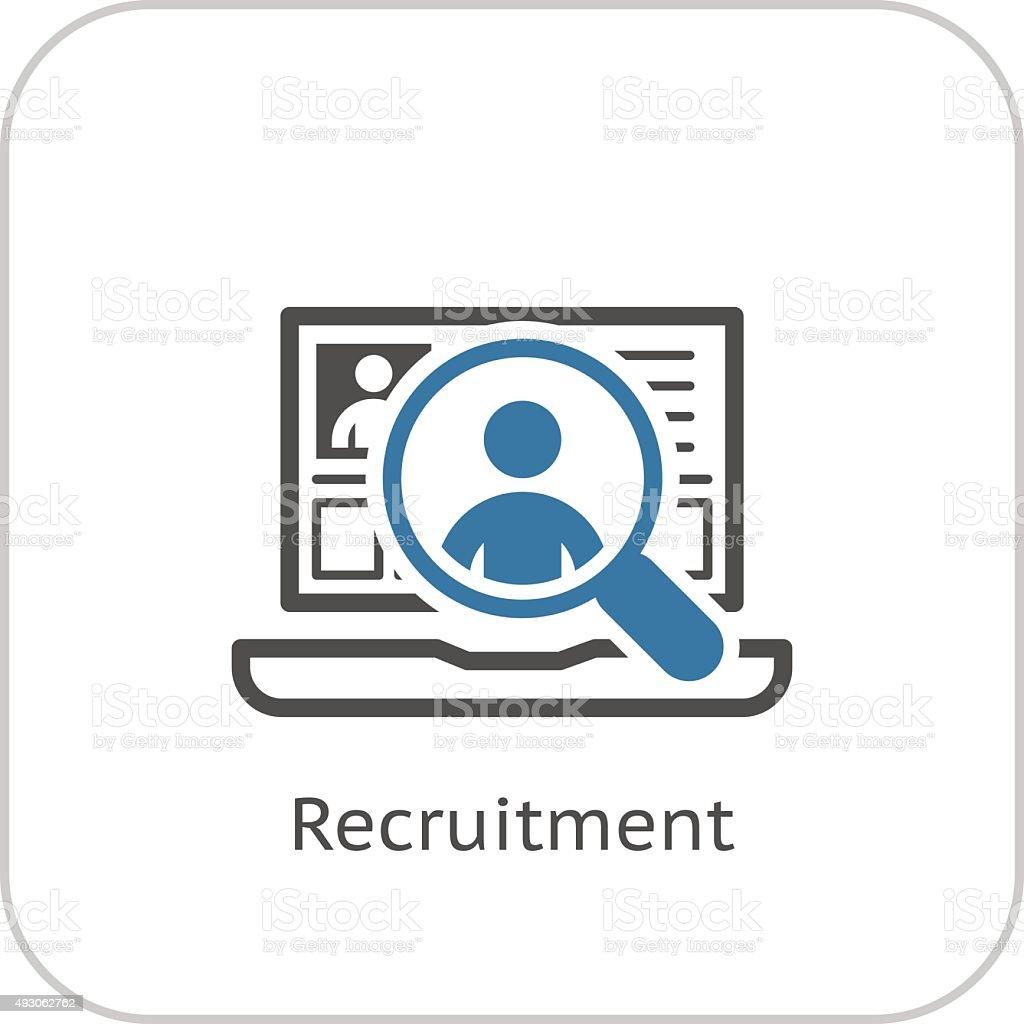 Recruitment Icon. Business Concept. Flat Design. vector art illustration