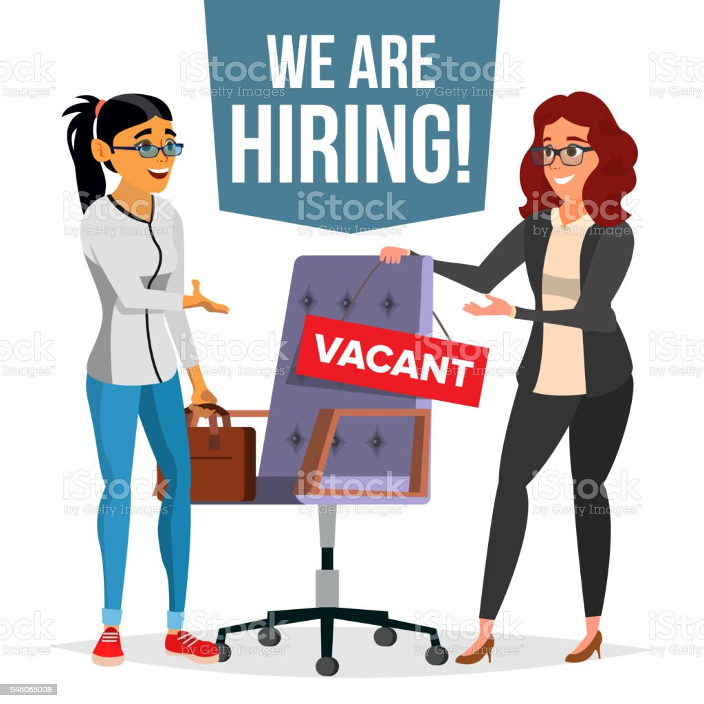 Recruitment Process Vector Human Resources Choice Of Employee Office
