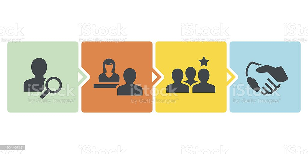 Recruitment Process vector art illustration