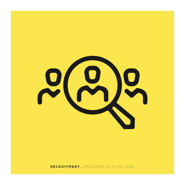 Recruitment Rounded Line Icon Recruitment Rounded Line Icon vacancy stock illustrations