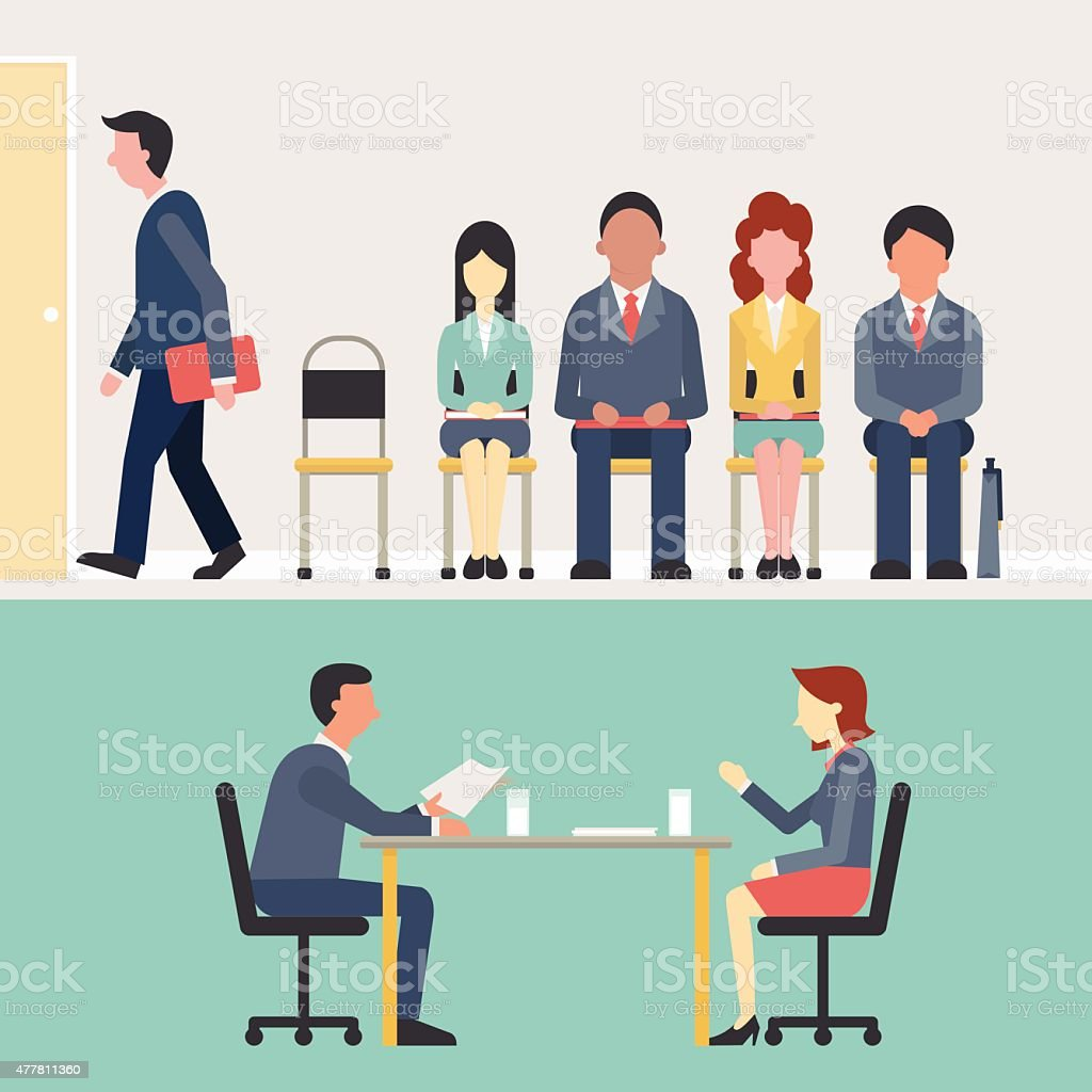 Recruitment vector art illustration