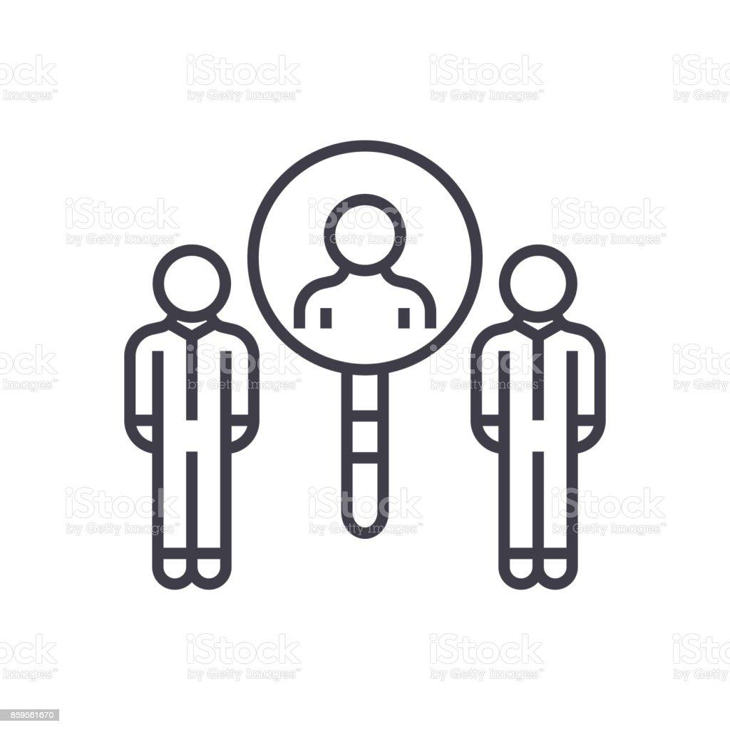 Ilustración de Captación De Zumbido Vector Línea Icono Signo ...