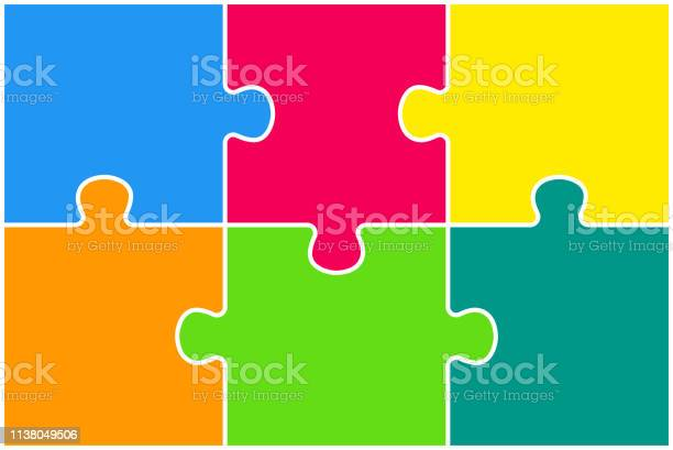 Rectangle background banner with jigsaw puzzle color separate pieces vector id1138049506?b=1&k=6&m=1138049506&s=612x612&h=6krr jdgfwjchfsdb9 j j5eyreecwjrnva8wp6p0vg=