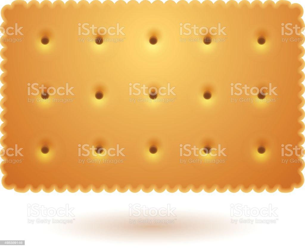 Rectangle cracker vector art illustration