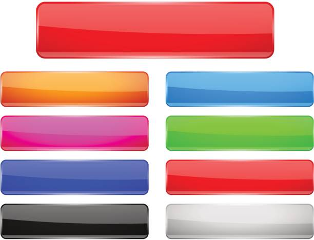 矩形玻璃功能表按鈕顏色設置 - 按鈕 幅插畫檔、美工圖案、卡通及圖標