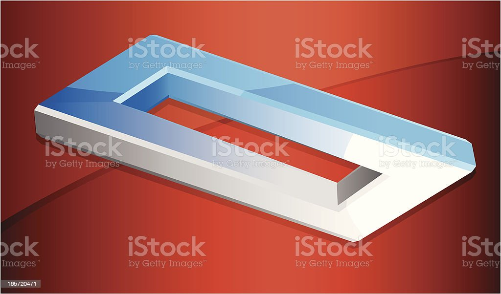 Rectangle Illusion An impossible rectangle optical illusion. Blue stock vector