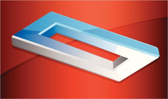 Rectangle Illusion Stock Illustration - Download Image Now