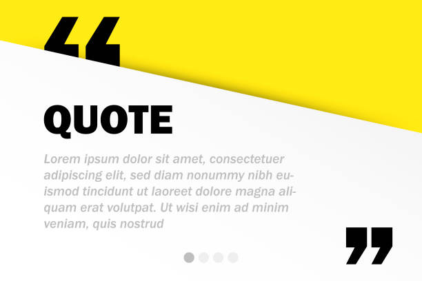 illustrazioni stock, clip art, cartoni animati e icone di tendenza di rectangle motivation quote template vector background with realistic soft shadows in material design. good for inspirational text, quotes etc. horizontal layout. - template